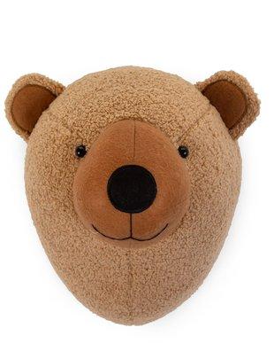 Childhome Childhome Dierenkop Teddybeer - Vilt - Muurdecoratie