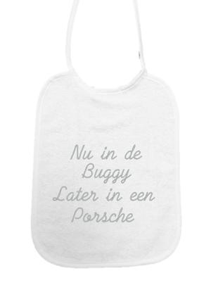 """Little Me Little Me Slab """"Nu in de buggy, later in een Porsche"""""""
