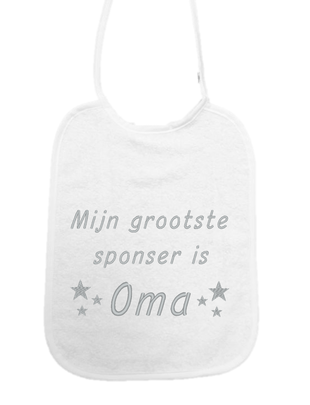 "Little Me Little Me Slab ""Mijn Grootste Sponsor is Oma"""
