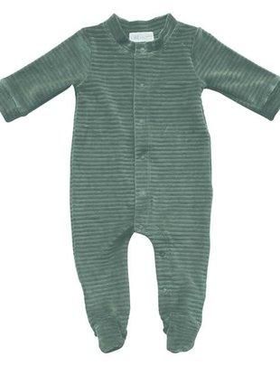 Witlof For Kids Witlof For Kids Pyjama  Velours Met Voet Sage Green