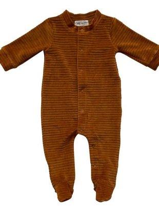 Witlof For Kids Witlof For Kids Pyjama Velours Met Voet Hazel Brown