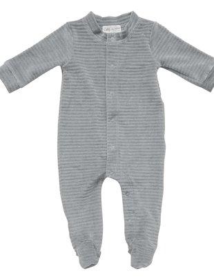 Witlof For Kids Witlof For Kids Pyjama Velours Met Voet Warm Grey