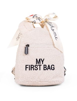 Childhome Childhome Kinderrugzak My First Bag - Teddy Ecru
