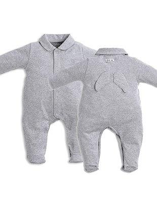 First First Pyjama Grijs Jersey Met Engelvleugels