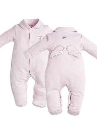 First First Pyjama Angel Wings Jersey Pink