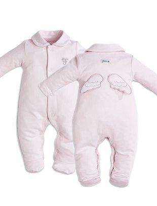 First First Pyjama Roze Jersey Met Engelvleugels