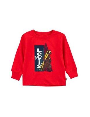 Levi's Levi's T-shirt Boys Longsleeve  Red Graphic