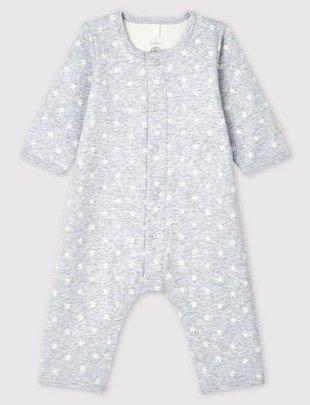 Petit Bateau Petit Bateau Pyjama Met Body Zonder Voetjes Stars Grijs