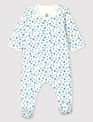 Petit Bateau Petit Bateau Pyjama Met Body Met Bootprint