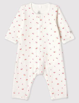 Petit Bateau Petit Bateau Pyjama Met Body Zonder Voetjes Birds