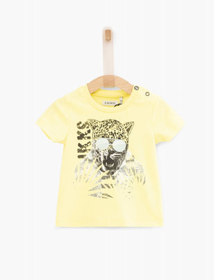 IKKS IKKS T-shirt Boys 'Army Of Flowers' Jaune