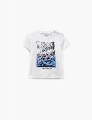 IKKS IKKS T-shirt Boys 'Kashbah Rock'in' Blanc Cassé