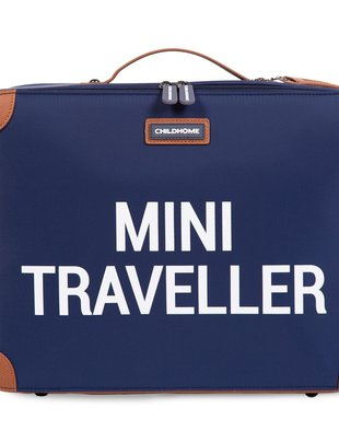 Childhome Childhome Mini Traveller Kinderkoffer - Navy/Wit