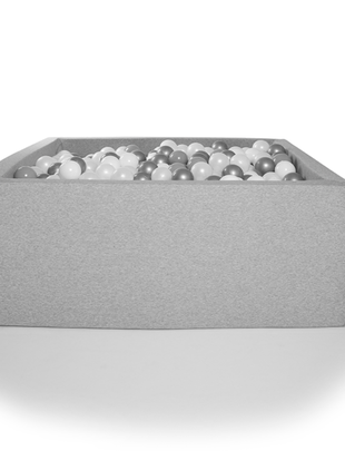 Kidkii Kidkii Ballenbad Square Light Grey (Incl 200 ballen)