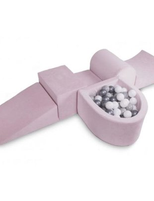 Kidkii Kidkii Hindernissenbaan Baby Pink (incl 100 ballen)