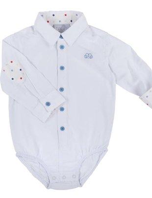 Natini Natini Hemd/Body Boys Mory Spots White Blue