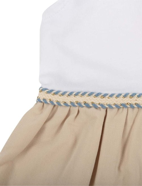 Natini Natini Jurk Girls Dress Ines White Beige