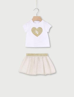Liu Jo Liu Jo Setje Girls White/Shiny Gold