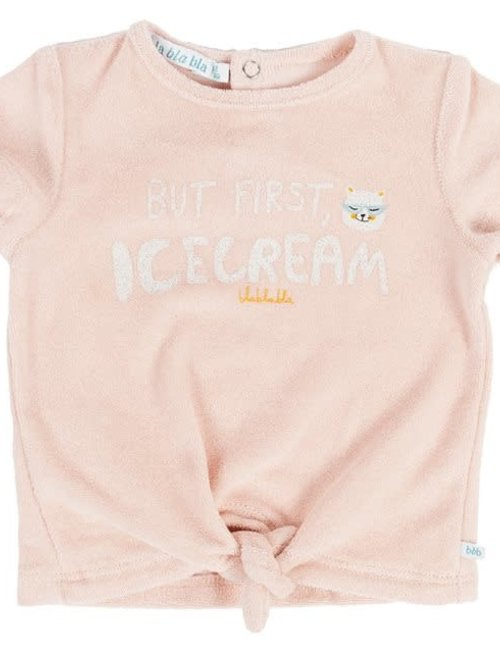 Bla Bla Bla Bla Bla Bla T-shirt Girls Spons 'But First Icecream'