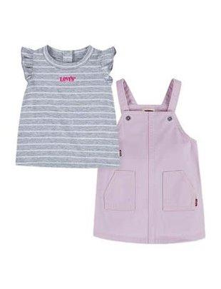Levi's Levi's Setje Girls Salopette & T-shirt Fairy Tale