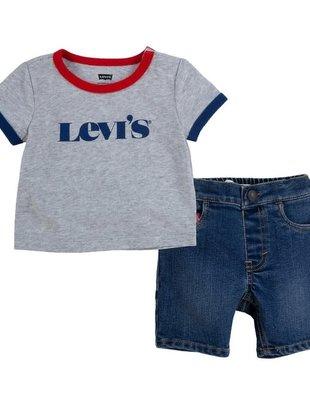 Levi's Levi's Setje Boys T-shirt & Shortje Ligth Grey Heather