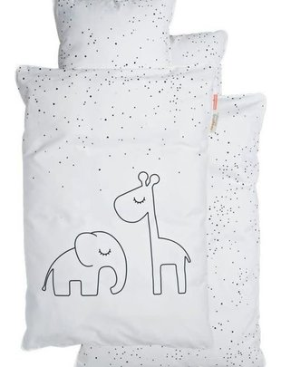 Done by Deer Done by Deer Dekbedovertrek Dreamy Dots White 100 x 140