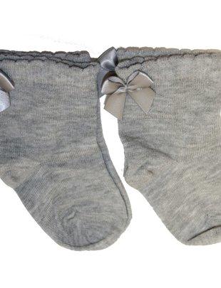 In Control In Control kousen Set Van 2 Satin Bow Med Grey/Med Grey