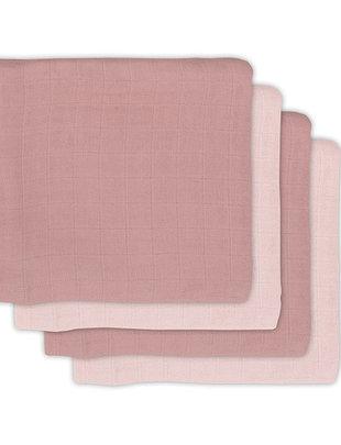 Jollein Jollein Hydrofiel Multidoek Bamboe 70x70 cm Pale Pink - 4 stuks