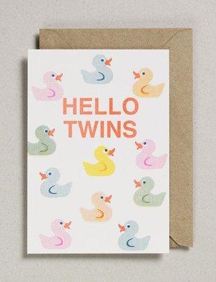 Petra Boase Petra Boase Wenskaart  'Hello Twins'