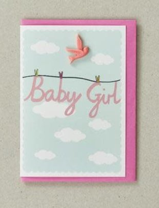 Petra Boase Petra Boase Wenskaart 'Baby Girl'