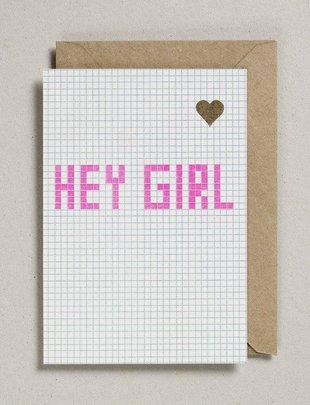 Petra Boase Petra Boase Wenskaart 'Hey Girl'