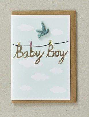 Petra Boase Petra Boase Wenskaart 'Baby Boy'