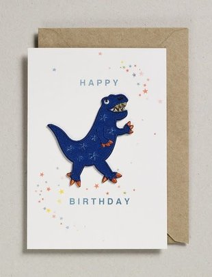 Petra Boase Petra Boase Wenskaart 'Happy Birthday' Dino Patch