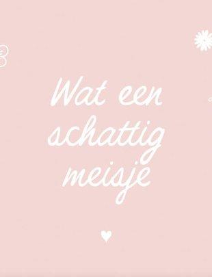 Minimou Minimou Wenskaart 'Wat Een Schattig Meisje'