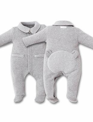 First First Pyjama Bjorn Jersey Grey/Grey Teddybear