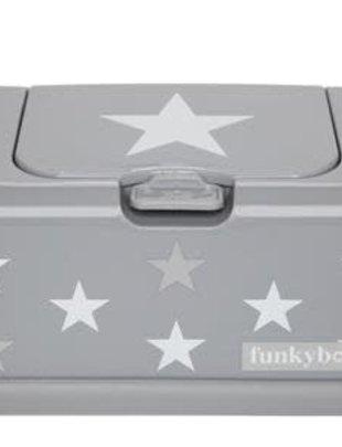 Funky Funky Box Vochtige Doekjesdoos Grijs met Witte Ster