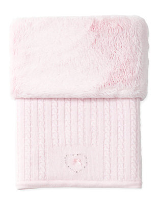 First First Pretty Pink Deken Teddy 75x100 cm