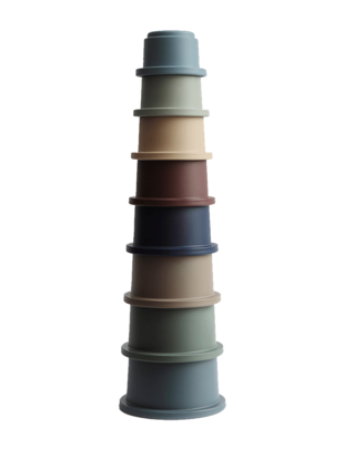 Mushie Mushie Stacking Tower Cups Forrest