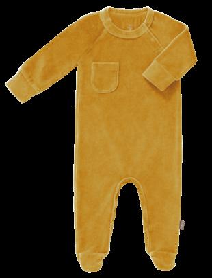Fresk Fresk Pyjama Velours Met Voet Mimosa