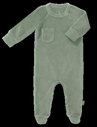 Fresk Fresk Pyjama Velours Met Voet Forest Green