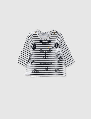 IKKS IKKS T-shirt Girls 'Mermaid Soul' Blanc Cass