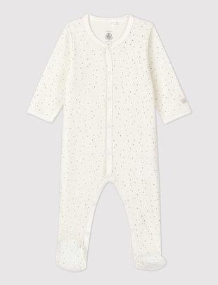 Petit Bateau Petit Bateau Pyjama Unisex Fluweel Met Sterretjes