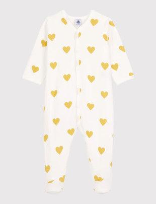 Petit Bateau Petit Bateau Pyjama Met Hartjes In Biologisch Katoen