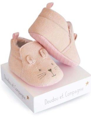 Doudou et Compagnie Doudou et Compagnie Babypantoffeltjes Roze