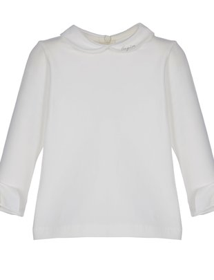 Lapin House Lapin House T-shirt Beige met mouw en strik