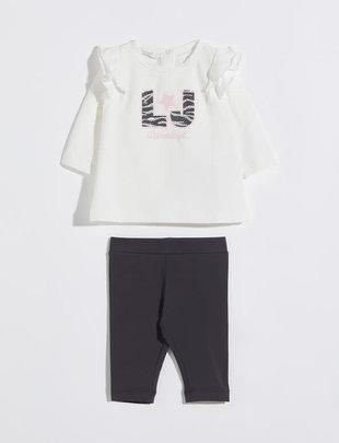 Liu Jo Liu Jo Setje Gilrs T-shirt & Legging Zebra