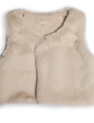 First First Bodywarmer Fur Beige