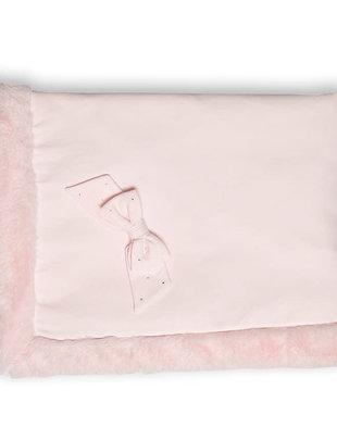 First Deken Fur & Strass Pink 95 x 68 cm