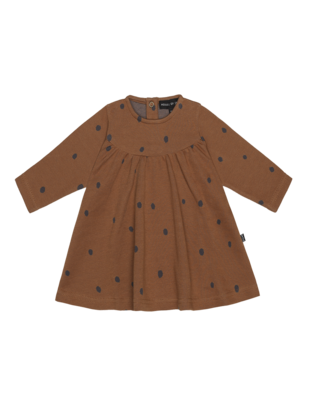 House of Jamie House of Jamie Baby Doll Jurk Ginger Bread Dots