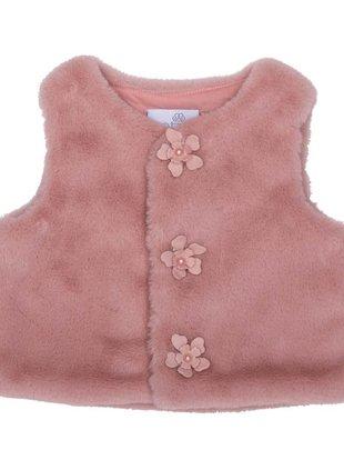 Natini Natini Gilet Girls Fur Flower Pink
